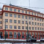 Prázdná budova bývalého Skloexportu v Liberci